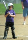 Jenna Knepp of the Thunder awaits her turn at the plate.