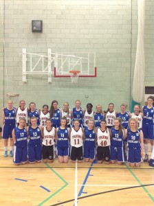 The Class of 2017 Lady Tigers basketball team is shown with the Scotland U-16 team (Photo provided by Rick Rivera)