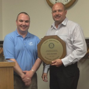 (from left) Robyn Palmer, President and (right) Chris Harrison, Past President. (Photo provided)