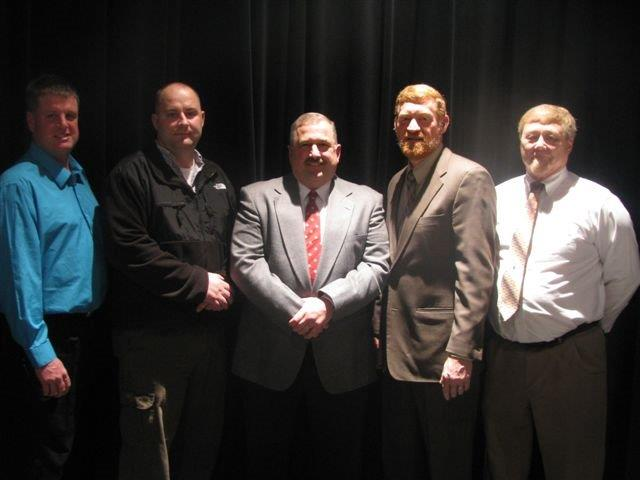 (Left to right) Rod Eaton, member; Tom Craft, member; Bryan Murphy, president; Mark Wise, vice-president; and Dave O'Brien, secretary. (photo provided)