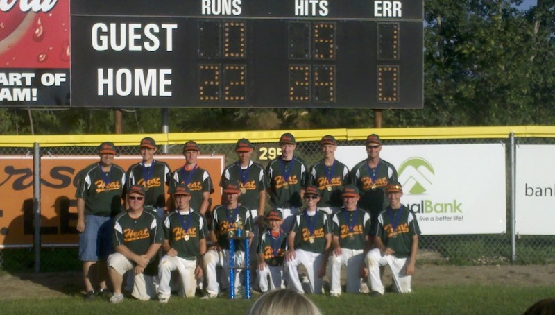 The Indiana Heat 14U baseball team shown above went 5-0 in the Warsaw Invitational to conclude its season (Photo provided by Scott Baker)