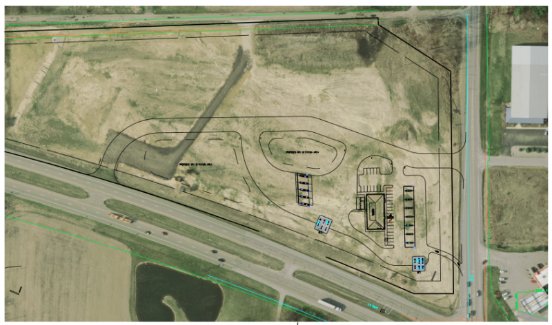 A site plan for a proposed Speedway gas station and truck stop in Pierceton was  introduced to the Kosciusko County Board of Zoning Appeals Tuesday.