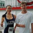 Amy Ehringer and Nate West were female and male winners at the 2013 Dixie Days 5K. (Photo by Tim Ashley)