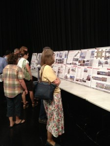 Warsaw residents came out Thursday night to hear, and see, ideas for Warsaw's future as presented by Ball State University urban planning students. (Photo by Stacey Page)