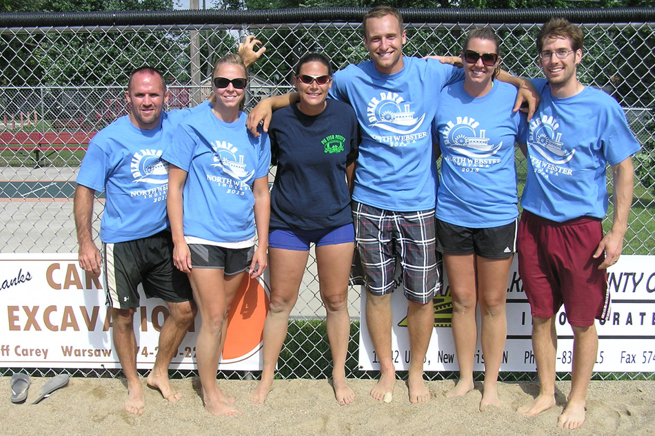 The Heat Waves won the 2013 Dixie Days Volleyball Tournament. (Photo provided by Mike Kissinger)