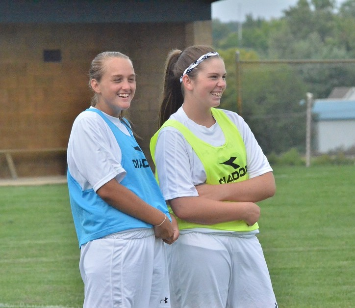 Sophomores Maddie Birch (left) and Nicole Streby (right) will help to keep Wawasee smiling all season.