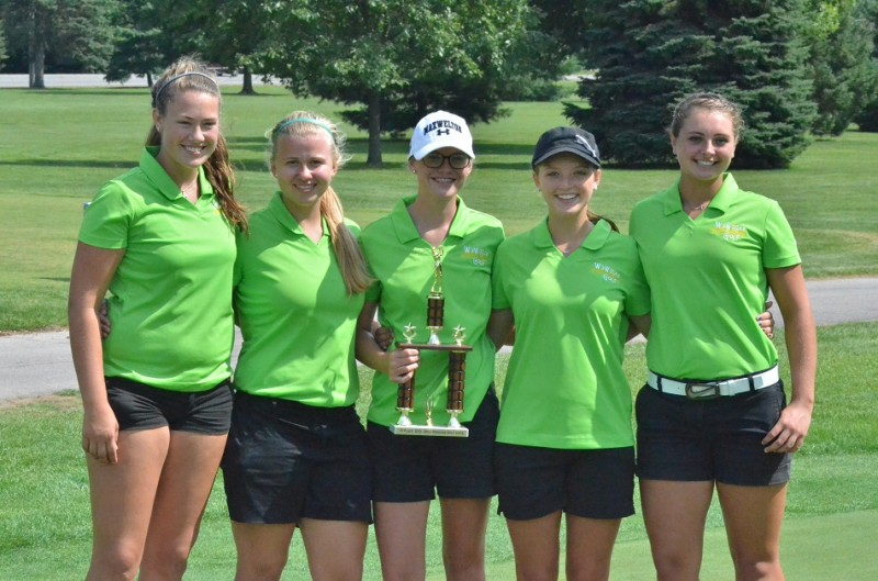 The Lady Warriors pulled out a tight one with their score of 391 at the first annual Wawasee Invitational. (Photos by Nick Goralczyk)