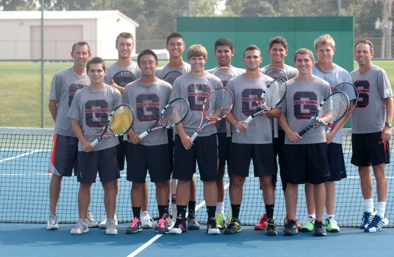 The Grace College men's tennis team expects another strong season this fall (Photo provided by Grace College Sports Information Department)