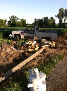 A Cromwell man is in critical condition following a Friday night accident near Syracuse. (Photo provided by Kosciusko County Sheriff's Department)