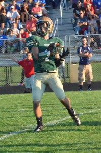 Wawasee's Sam Clark makes the catch and turn for a touchdown early in the game Friday night. (Photos by Nick Goralczyk)