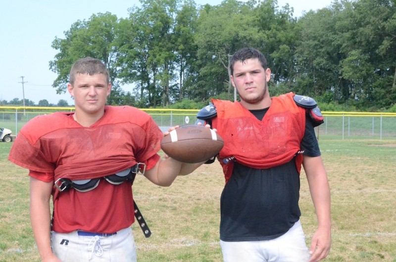 Juniors Tanner Hughes (at left) and Devin Gerding will carry the load for Whitko football  this fall (Photo by Scott Davidson)