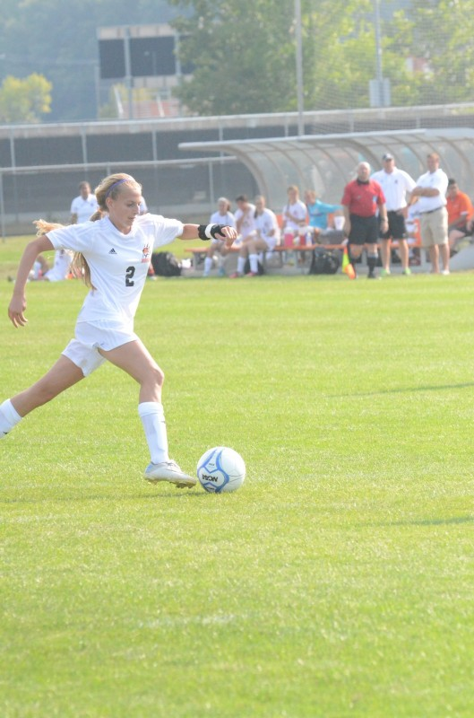 Julie Frazzetta makes a run for the Tigers during the season opener Monday night versus Culver.