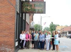 (Left to right) front row:  Martha Stouder, Lake City Bank; Joni Truex, Builders Association Kosciusko Fulton Counties and Chamber Ambassador; Alma Freeman; Helena Byrer, Owner Fern Gully Antiques; Donna Fisher, Paragon Medical; Becky Plummer, Staffmark and Chamber Ambassador; and Renea Salyer, Chamber Member Coordinator Warsaw Kosciusko County Chamber.  Back row: Toni Ryan, The-Papers; Lori Bolyard, Beacon Credit Union and Chamber Ambassador; Luke Byrer; Darrel Byrer; Sheila Moll; David Taylor, Blue Pearl Antiques and Chamber Ambassador; Jennifer Manwaring, Anderson Greenhouse and Chamber Ambassador; and Dee Anna Muraski, Grace College and Chamber Board Member. (Photo provided)