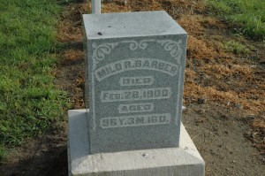 Milo Barber was one of the earliest settlers in Seward Township and the first township trustee. (Photo by Tim Ashley)