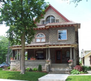 This home is one of seven homes featured on the Winona Lake House Tour on Aug. 10. Pictured is a home owned by Scott and Nicole Shipley.