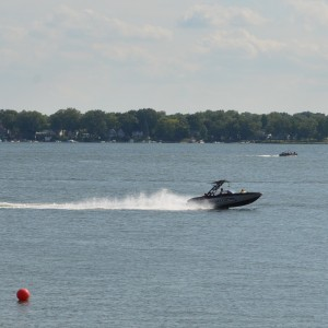 Boats specialized for wakeboarding and surfing create large wakes and need to be operated in deeper water