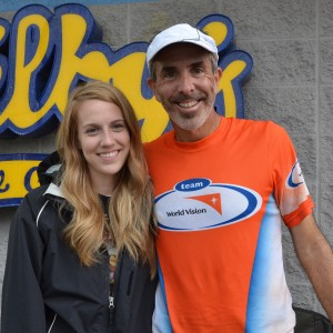 Steve Spear, a former pastor in Chicago, began a 3,000 mile run across the country in April. Spear's daughter Chelsea Spear (left) has accompanied her along the way helping to provide her father with food, hydration and directions on upcoming locations. (Photo by Alyssa Richardson)