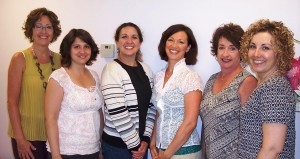 Spectrum Day Spa's clients and staff celebrated the spa's 20th anniversary by raising over $300 to help support The Beaman Home's plans to build a new emergency shelter and outreach center.  Picture from left are Sharon Roberts, Amy Elliott, Tracie Hodson, Julia Garner, Darleen Hunter and Bernadette Kelsey. (Photo provided)