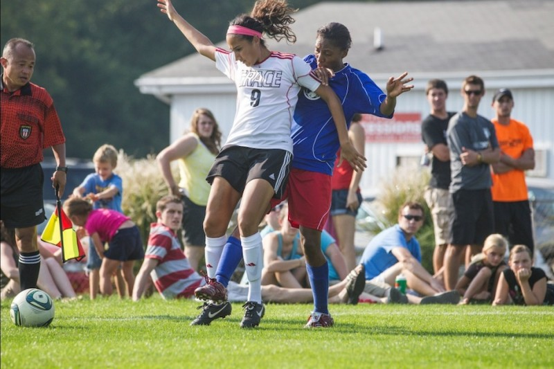 The Grace College women's soccer team will play host to Haiti Saturday at 4 p.m. at Miller Field (Photo provided by Grace College Sports Information Department)
