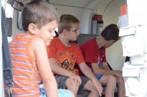 Lutheran Air Ambulance offered air show guests the opportunity to tour the ambulance.  (Photo by Alyssa Richardson)