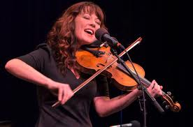 Amanda Shires performing on the Mountain Stage in Feb. 2012 (Photo by Amos Perrine)