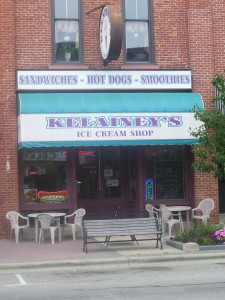 The downtown location of Kelainey's ice cream shop in Warsaw is for sale. Owners  Thompson plan to sell the shop.
