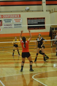 Marie West had a strong performance for Warsaw in a win Wednesday night.