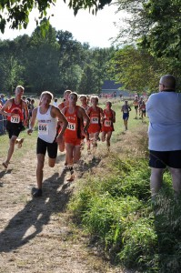 A pack of Warsaw runners compete Tuesday at WCHS (Photo by Amanda Farrell)