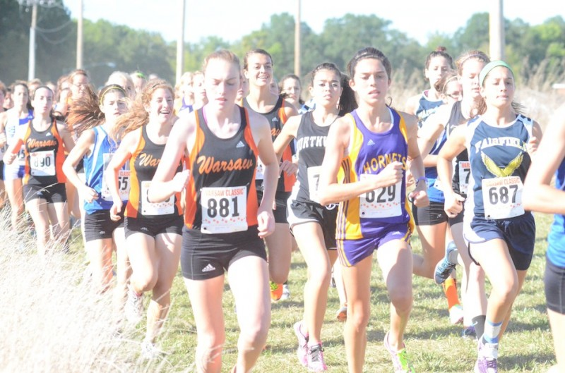 Hannah Dawson was ninth overall Tuesday to help her Warsaw team claim the title (Photo by Scott Davidson)