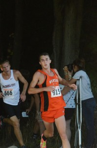 Ellis Coon leads the way Tuesday in the Tiger Classic (Photo by Scott Davidson)