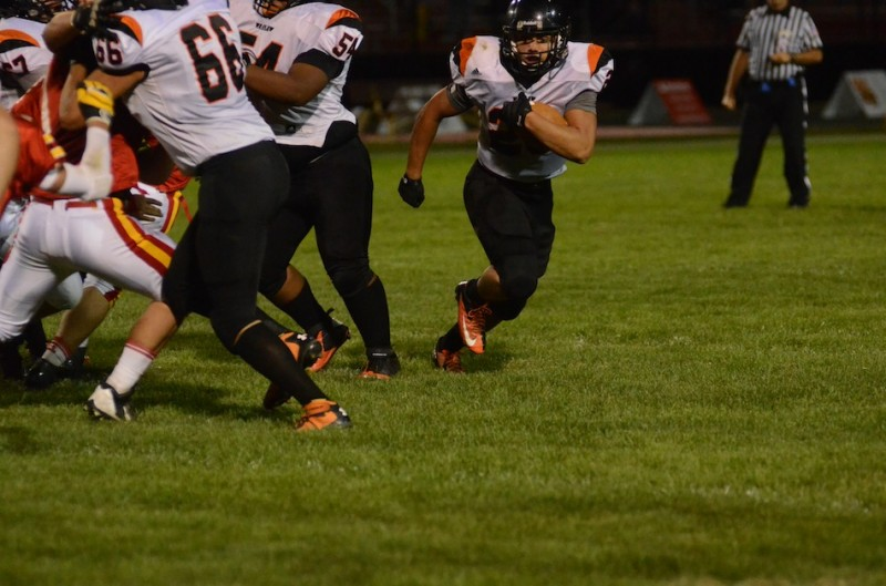 Warsaw senior Tristan McClone leads the Tiger offense with 602 yards rushing and seven touchdowns. Warsaw plays at winless Goshen in NLC action Friday night (File photo by Scott Davidson)