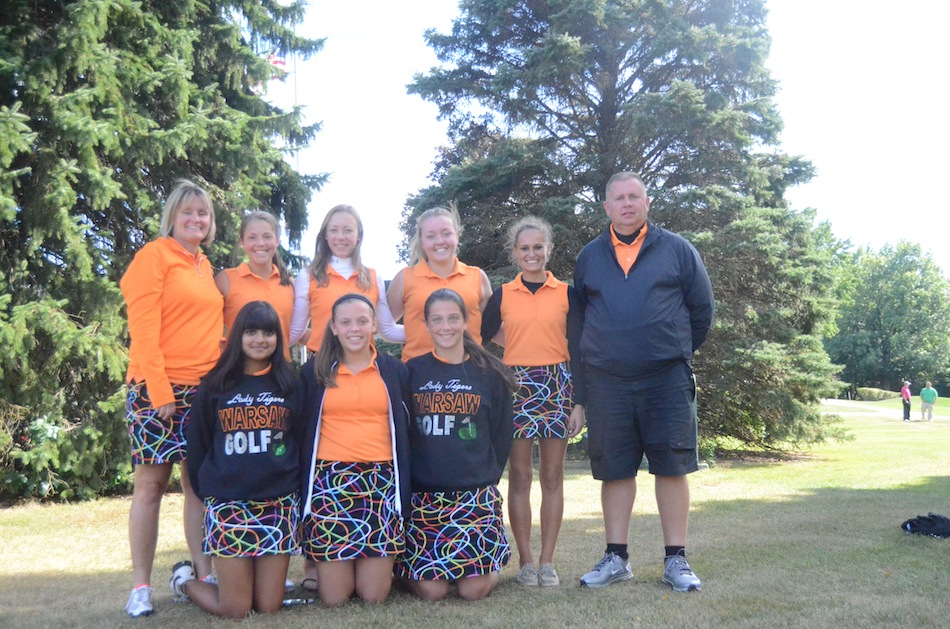 The Warsaw girls golf team won the NLC Tournament title Saturday at the Maplecrest Country Club in Goshen.