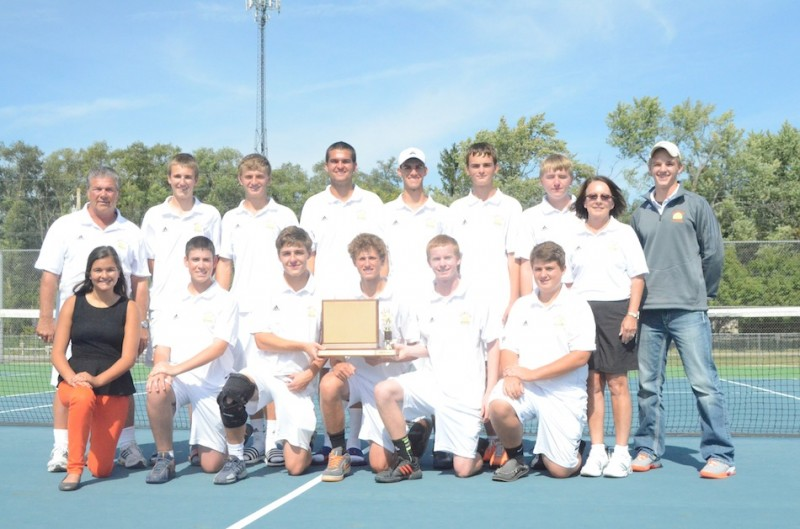 The Warsaw boys tennis team won the NLC Tournament title for the second straight year on Saturday at Goshen Middle School.
