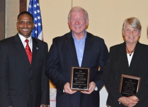 State Auditor Dwayne Snipes was the keynote speaker at the Republican Hall of Fame Dinner with Bob Sanders and Judy Snipes being named Man and Wman of the Year. (Photo by Deb Patterson)