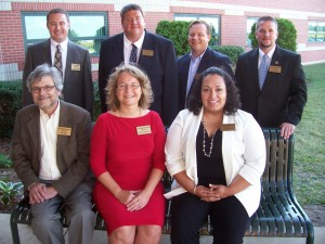 From left are the 2013 Tippecanoe Valley High School Distinguished Alumni Class members Ron Newlin, Dr. Marilyn (King) Kindig Stahl and Kenia (Ramirez) Rosas. In back are Dr. Cameron Vanlaningham, Chuck Howard, Brandon Miller and Orville Haney. (Photo provided)