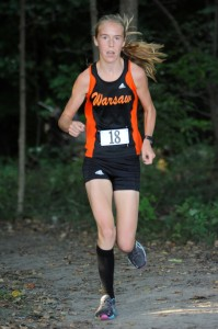 Warsaw's Allison Miller was queen of the girls race, winning with a time of 19:20.