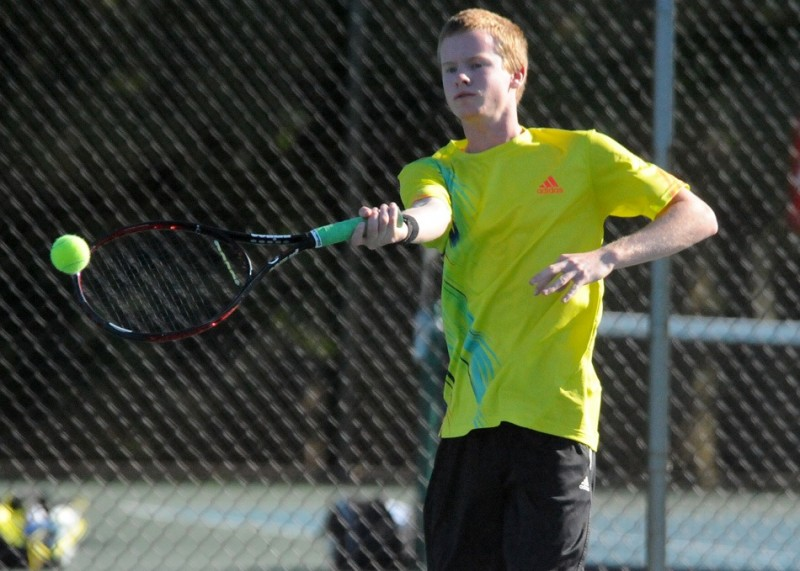 Caleb Ray has returned to the doubles lineup to give Warsaw a big boost heading into sectional play Wednesday (File photo by Mike Deak)