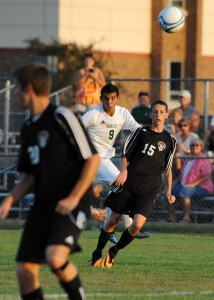 Fernando Camargo of Wawasee uncorks a shot against Huntington North.