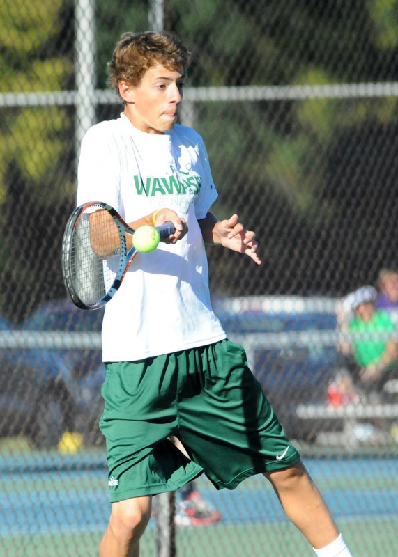 Wawasee's Todd Hauser collected a win Thursday at No. 2 singles in the NLC Tournament in Plymouth.