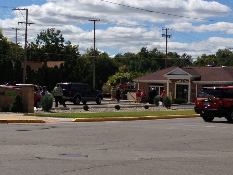Warsaw-Wayne Township Fire Territory crews are on the scene of a gas leak at Mutual Federal Bank, West Center Street, Warsaw.