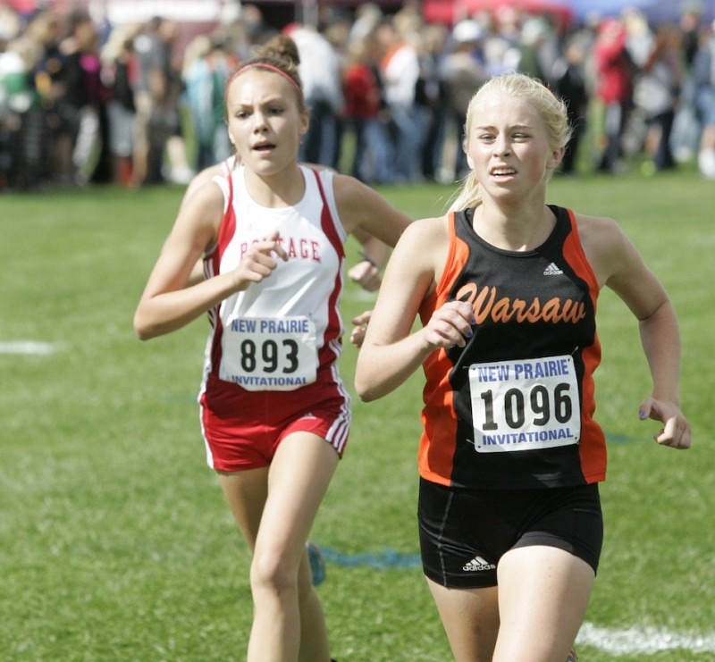 Brooke Rhodes of Warsaw had a personal-best performance Saturday in the New Prairie Invitational with a time of 20:21.