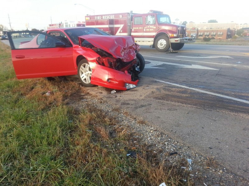 Three vehicles collided at U.S. 30 and Center Street just before 9 a.m. today. No word on injuries, but the accident did shut down eastbound traffic for about 30 minutes. (Photo by Alyssa Richardson)