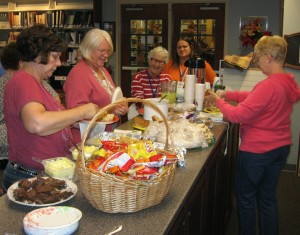 The Friends of the Library enjoyed a special carry-in luncheon following last week's monthly meeting. This volunteer organization supports the work of the Library through fundraising, program assistance, and other support activities. Pictured (from left) are: Library FOL Liaison Beth Smith, Suzanne Robinson, Eve Payne, LaDonna Ogburn, and Faye Myers. (Photo provided)