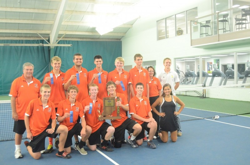 Host Warsaw won its' second straight sectional championship Friday evening at the Warsaw Tennis and Fitness Club. The Tigers advance to the Culver Academies Regional Tuesday to face the hosts in a semifinal matchup.