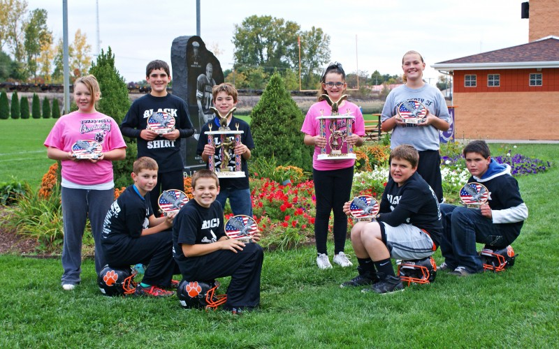 In front, from left, are Blake Marsh, Carter Ihnen, Kyle Miller and Michael Stepnoski. In the back are Brayanna Kelly, Jack Williamson, Isaiah Owens, Cassidy Landis and Cheyenna Cassel. (Photo provided)