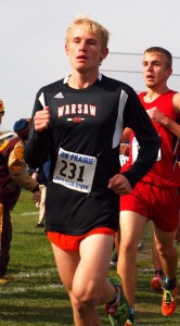 Owen Glogovsky helped his Warsaw squad place second Saturday in the semi state.
