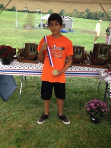 Eduardo Calderon, an 8th grader at Lakeview Middle School in Warsaw, was a champion Saturday (Photos provided by Matt Campbell)