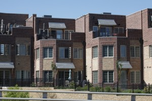 Matthew LLC designed these townhouses along the River Race in South Bend. Similar units could become reality in downtown Warsaw. (Photo by Matthewsllc.com)