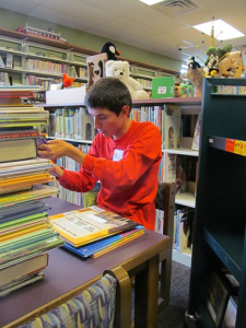 Wawasee High School Professional Career Intern Troy Carolus has completed his first trimester internship with the North Webster Community Public Library where he assisted in the Youth Services Department for two hours each school day. (Photo provided)