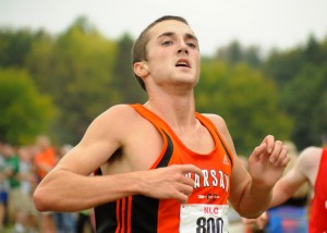 Warsaw's Ellis Coon was the NLC boys cross country champion and leads a large contingent of Tigers in the All-NLC voting. (Photo by Mike Deak)